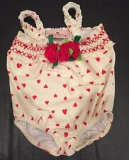 Juicy Couture Baby Girl Bathing Suit 6-9 Mos Beach Baby Hearts Adorable