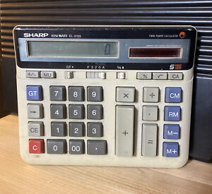 SHARP ELSI MATE EL-2135 Calculator Twin Power Memory Safe Guard Auto Solar
