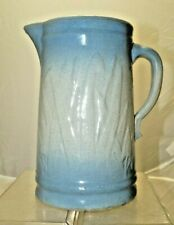Antique 1910s - 20s Era Red Wing Union Stoneware Decorated Pitcher - Crock Jug