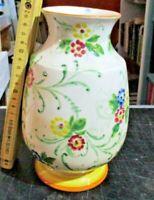 VASO ceramica decorato mano FIORI - marchio CERAMICA LODIGIANA LODI XIX° secolo