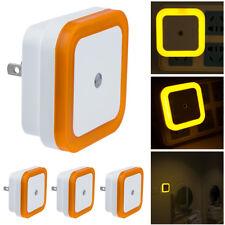 yellow US Plug Auto LED Light Induction Sensor Control Lamp Night Light Bedroom