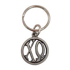 Chi Omega Metal Monogram Keychain