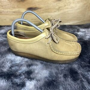 Clarks Mens Brown Originals Wallabee 535395 Lace Up Suede Loafer Shoes Sz: 8.5 M