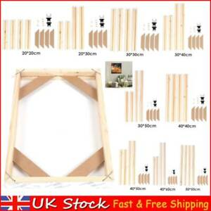 DIY Solid Wood Frame Kit Wooden Photo Poster Inner Frames for Canvas Painting UK