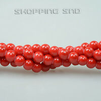 Quality Czech Opaque Coated Glass Pearl Round Beads 16'' 8mm 10mm 12mm 14mm 16mm
