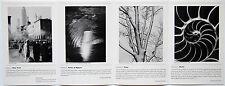 Advertisement flyer for Andreas Feininger – Four Portfolios