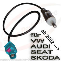 Autoradio Fakra Antennen Adapter auf ISO / DIN für VW AUDI SEAT SKODA CHRYSLER