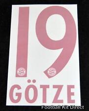 Bayern Munich Gotze 19 Football Shirt Name/Number Set 2014/15 Away Bundesliga