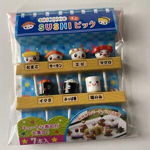 Cute Kawaii Bento Supplies Sushi Picks Food With Faces