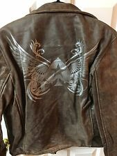 POKER STARS 100% Genuine Leather Men's Jacket ~ NWT~ Small
