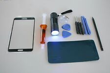 Replacement Front screen Glass repair Kit+Tool Glue Black Samsung Galaxy Note 3