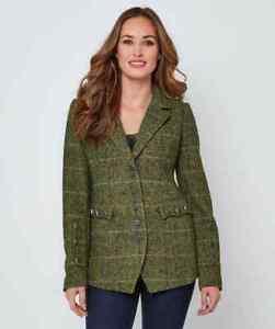 Joe Browns WJ288 Perfect Tweedy Jacket Greens Size 16,18