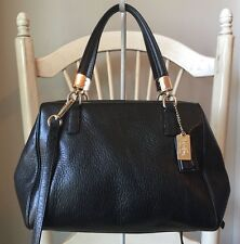 COACH Madison MINI SMALL Black Leather Shoulder Bag Purse Crossbody $228 10x6.5.