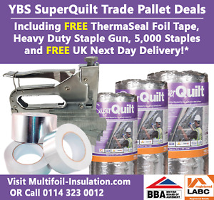 SuperQuilt Trade Pallet Deal Including ThermaSeal Foil Tape and Staple Gun Kit