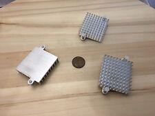 3 Pieces - Silver IC LED Aluminum Cooling Fan Heatsink Cooler 55mm hole CPU C34