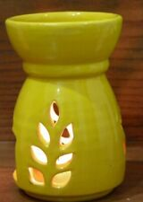 Ceramic Oil Burner with Candle - Handmade Ceramic _ Aromatherapy