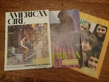 American Girl Three Issues 1970-1971 vintage advertising cybill shepherd