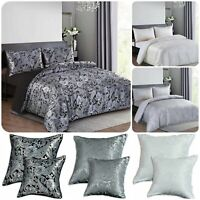 3 Piece CLEO Printed Paisley Jacquard Duvet/Quilt Cover Bed Set + 2 Pillow Cover