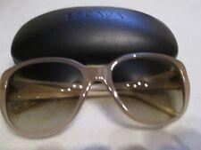 Escada beige frame sunglasses. SES 248G. With case.