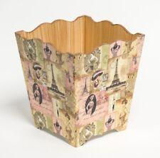 Madame Paris en bois fait à la main Waste Paper Bin