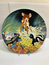 """1991 Bambi Collector's Plate By Knowles """"Bambi's New Friends"""" (Has Coa Papers)"""