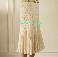 New $175 Ralph Lauren Women Lace Dress Skirt 0 4 12 14 16 18