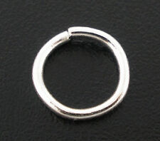 200 PCs Silver Plated Open Jump Rings 8x1.5mm SP0079
