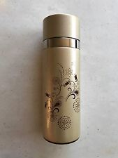 STARBUCKS Thermos Stainless Steel & Clay GOLD Travel Mug Tumbler 10oz