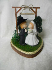 Wedding Party Reception Kissing Western Cowboy Git n Hitched Custom Cake Topper