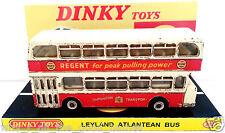 Vintage DINKY Toys 292 LEYLAND ATLANTEAN BUS Diecast Model & Custom Display