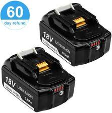 2 Batterie Pour Makita 18V 5.5Ah Chargeur LED Li-ion BL1860 BL1850 BL1815 BL1840