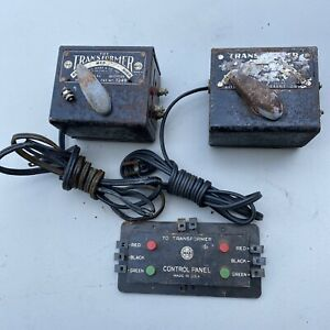 Vintage Marx 1209 And 1249  Model train Transformer For Parts or repair.