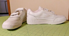 White Leather No Tie Sz 13 Riddell Easy Fasten Shoes Men Comfort Casual Athletic