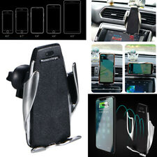 10W 360° Rotation Wireless Automatic Sensor Car Phone Holder Fast Charger 2 in1