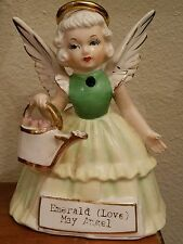 S R Japan Emerald Love May Birthday Angel Flower Girl With Water Can Green