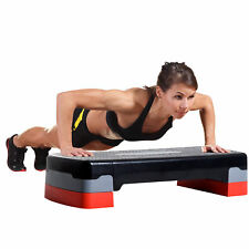 "27"" Aerobic Stepper Adjustable Workout Platform Fitness Step with Riser"