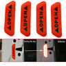 4pcs Super Red Car Door Open Sticker Reflective Tape Safety Warning Decal