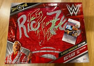 NEW RIC FLAIR UNOPENED Signed ROBE AUTO WRESTLING BOX NATURE BOY PHOTO JSA