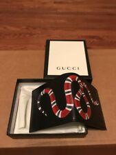 NEW Men's Gucci Black Leather Snake Print Bifold Wallet FREE SHIP!!!