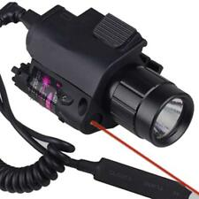 LED Tactical Insight 300 Lumen Red Laser Flashlight For Pistol Gun 3 Modes