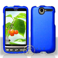 HTC ADR6275 Desire shield Blue Rubberized Cover Shell Protector Guard Shield