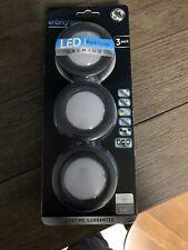 New GE Enbrighten LED Puck Lights - Premium - Black, (3 -Pack)