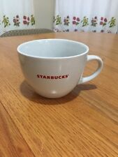 Starbucks Large Latte cappucino Coffee Mug Cup 18 oz White Red Logo 2008