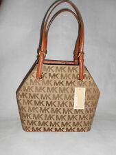New Michael Kors Monogram Women's Jet Set Grab Handbag, Brown RRP £220