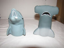 Pizza Hut Flipper and Hammer Head Shark Hand Puppets