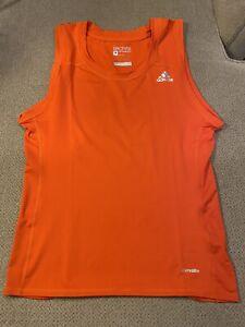 Mens adidas Tech Fit Jock Orange Compression football Spandex tight Shirt XL New