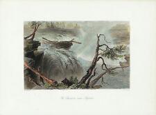 WH BARTLETT Antq c1840-42 Engrav CANADIAN SCENERY ILLUS, CHAUDIERE NEAR BYTOWN