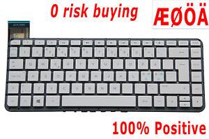Nordic Swedish Dansk Laptop Keyboard for HP Stream 14-z000 14-z010 14-Z050 White