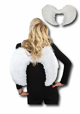 Angel Wings Sissi with Bright White Feathers Fancy Dress Carnival Costume