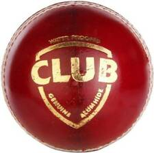 Sg Club ( 6 pce,) Red 156g Leather Cricket Ball red ,free shipping